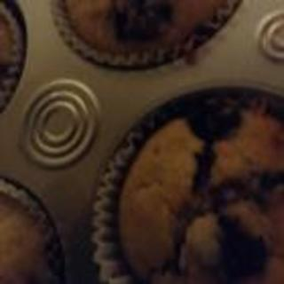 Egg-free banana and blueberry muffins