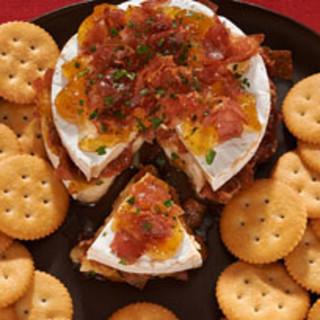 Fig and Prosciutto-Stuffed Brie