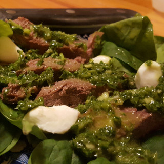 Flank Steak Salad with Chimichurri Dressing