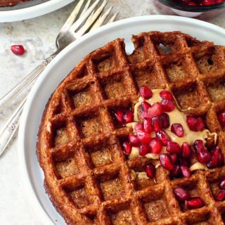Flourless Gingerbread Waffles or Pancakes