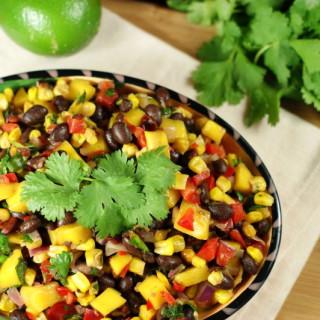 Fresh Corn, Black Bean and Mango Salsa