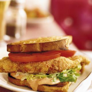 Fried Catfish Sandwiches with Chipotle-Honey Mayo