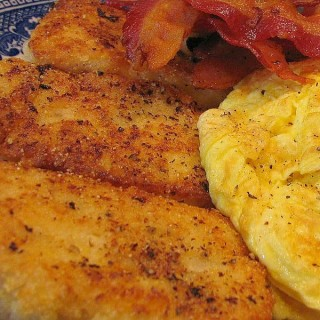 Fried Hominy Grits