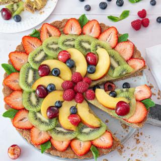 Fruit Tart with Vegan Custard
