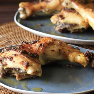 Garlic Roasted Chicken Leg Quarters