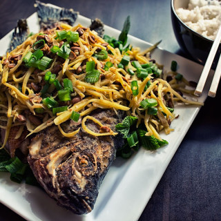 Ginger Fish with Salted Soybean Recipe (Trey Chean Choun)
