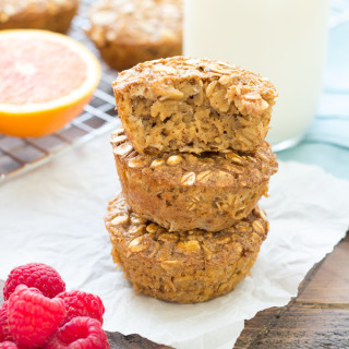 Gingerbread Baked Oatmeal Cups