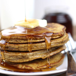 Gingerbread Pancakes with Cinnamon Syrup