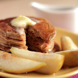 Gingerbread Pancakes with Sauteed Pears