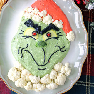 Gloriously Grinchy Guacamole Appetizer