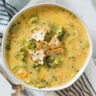 Gluten Free Broccoli Cheddar Soup