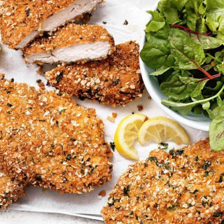 Gluten-free chicken schnitzel