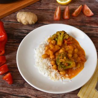 gluténmentes és vegán csicseriborsó curry, a villámgyors ebéd