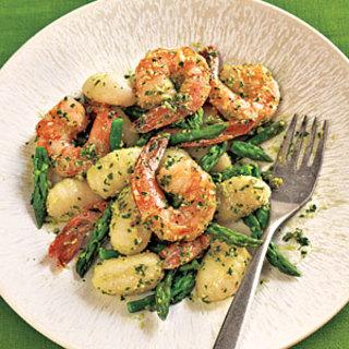 Gnocchi with Shrimp, Asparagus, and Pesto