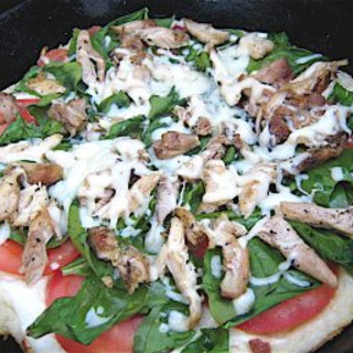 Grecian Chicken Gyros Pizza