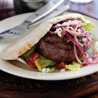 Greek-style burgers recipe