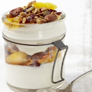 Greek Yogurt and Peach Parfait
