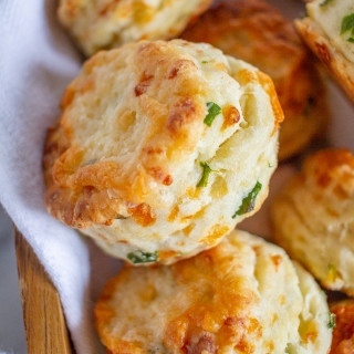 Green Onion and White Cheddar Cheese Biscuits