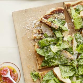 Grilled Caesar Salad Flatbread