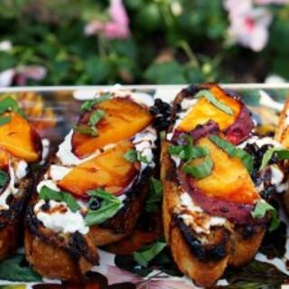 Grilled Fruit Bruchetta