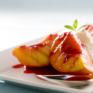 Grilled White Nectarines (or Peaches) w/ Amaretto Spiked Mascarpone