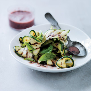 Grilled Zucchini with Blueberry-Habanero Salsa