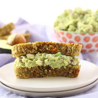 Guacamole Chicken Salad + 8 Minute Gluten-Free Bread!