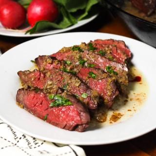 Hanger Steak With Bagna Cauda Pan Sauce Recipe
