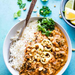 Fiery Crock Pot West African Peanut Stew {Gluten free, Dairy Free}