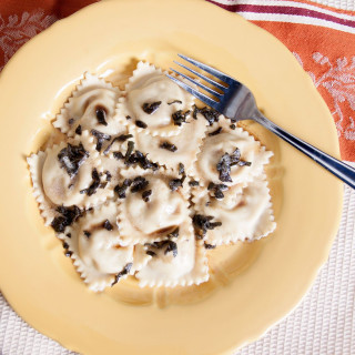 Homemade Butternut Squash and Blue Cheese Ravioli With Sage Brown Butter Sa