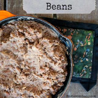 Homemade Garlicky Refried Beans