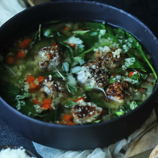 Homemade Italian Wedding Soup Recipe with Moroccan Cous Cous