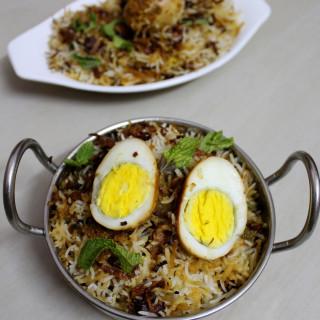 Hyderabadi Egg Biryani Recipe, Egg Dum Biryani Recipe