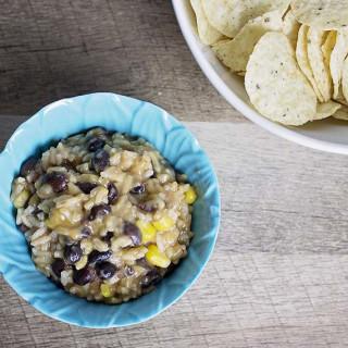 Instant Pot Black Bean and Rice Burrito Dip