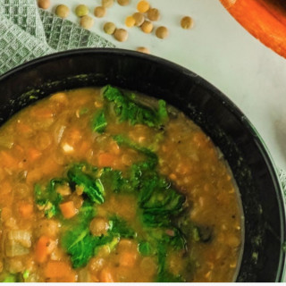 Instant Pot carrot, lentil, and kale soup WW
