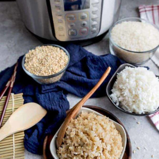 Instant Pot Rice - how to make rice perfectly (White Rice or Brown Rice)