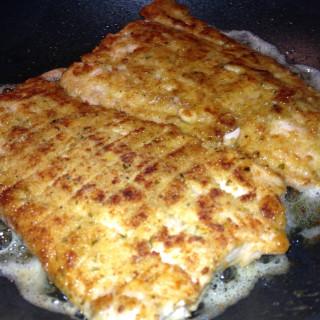 Italian Breaded Fried Salmon Fillets