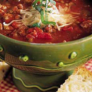 Italian-Style Beef-and-Pepperoni Soup Recipe