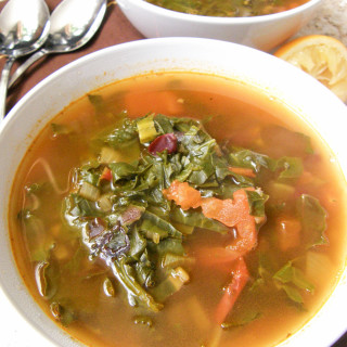 Kale, Swiss Chard and Kidney Bean Soup