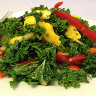 Kale, Bell Pepper and Mango Salad