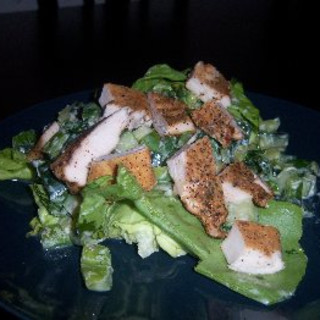 Katie's Cajun Chicken On A Cool Salad