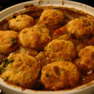 Lamb Casserole with Parmesan and Parsley Dumplings