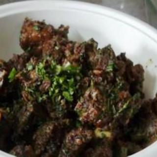 Lamb: dry lamb curry