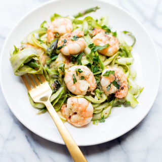 Lemon Garlic Shrimp with Asparagus