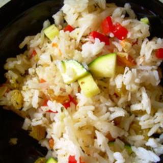 Lemony Rice Salad with Vegetables