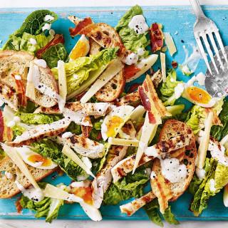 Lighter chicken Caesar salad recipe