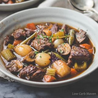 Low Carb Beef Stew (Gluten-free, Keto, Whole30)
