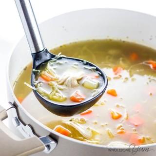 Low Carb Chicken Soup Recipe (Paleo, Gluten-free)
