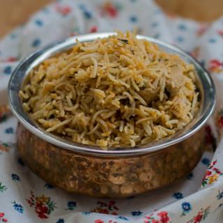 Madras Chicken Dum Biryani