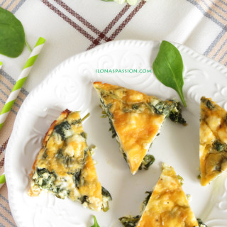 Madras Fritata with  feta ,spinach and  paneer